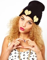 Big Chill Funky Bling Heart Beanie