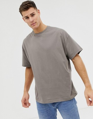 ASOS DESIGN oversized t-shirt with crew neck in beige