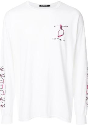 Adaptation skating skull print T-shirt