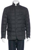 Moncler Rodin Down & Wool Jacket