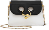 J.W.Anderson Pierce Mini Two-tone Leather Shoulder Bag - White