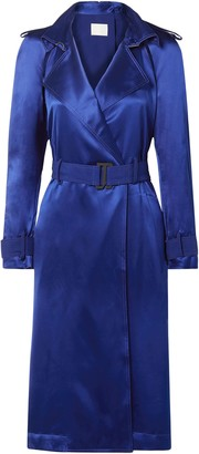 Dion Lee Cutout Belted Mulberry Silk-satin Dress