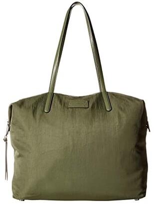Rebecca Minkoff Washed Nylon Tote (Olive) Tote Handbags