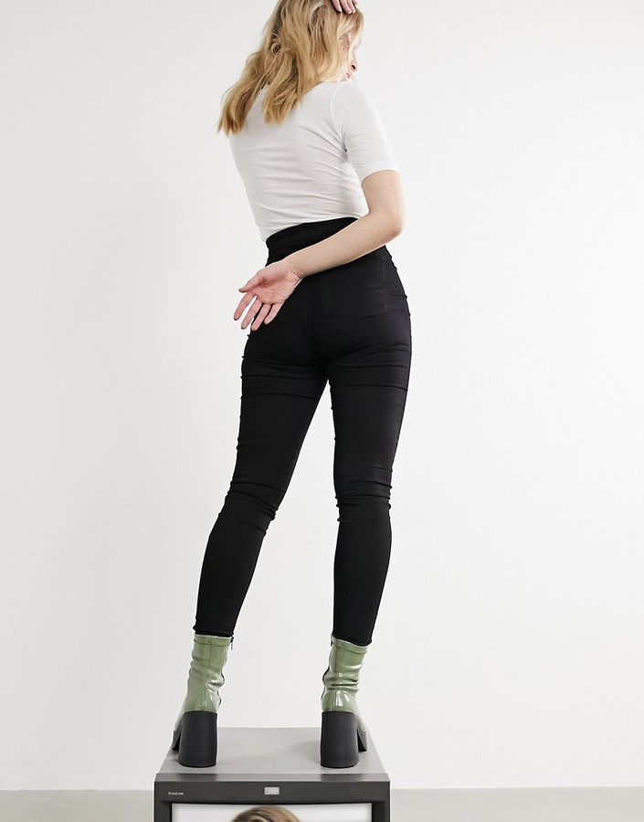 Thumbnail for your product : Collusion x002 super skinny high waist jeans in clean black