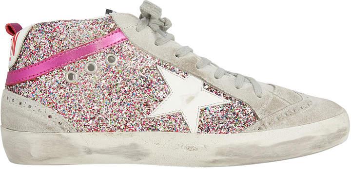 Golden Goose Mid Star Rainbow Glitter Sneakers