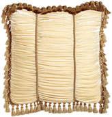 Isabella Collection European Ruched Velvet Sham with Tassel Trim