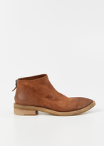 Marsèll brown ankle boot with zip in suede