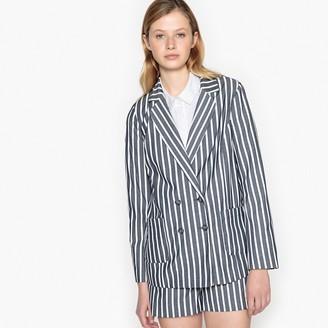 La Redoute Collections Striped Straight Cut Blazer