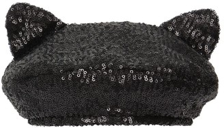Maison Michel Billy Ears Sequined Hat