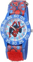 Marvel Boy's 'Spider-Man' Quartz Plastic and Nylon Automatic Watch, Color: (Model: W003226)