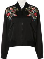 Christian Dada embroidered bomber jacket - women - Cotton/Polyester/Rayon - 36