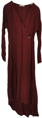 Non Signã© / Unsigned Burgundy Viscose Dresses