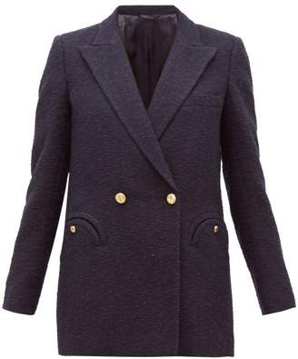 BLAZÉ MILANO Esense Double-breasted Boucle Blazer - Womens - Navy