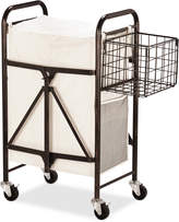 Mikasa Collapsible Laundry Cart With Side Storage Basket