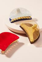 Anthropologie Glittered Velvet Hair Clip Set