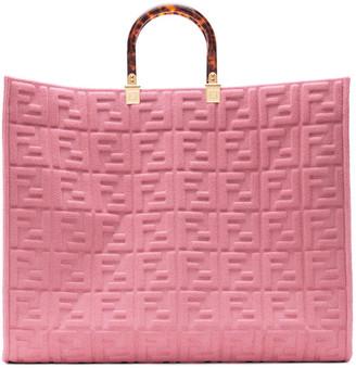 Fendi Pink Forever Sunshine Shopper Tote