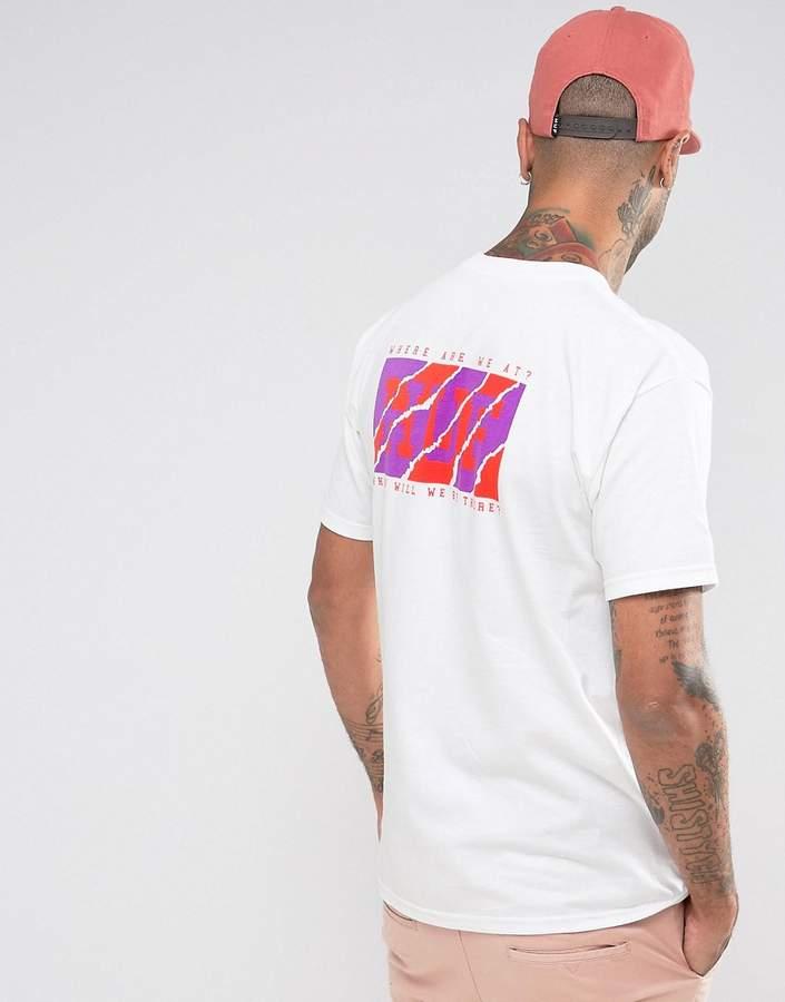 HUF Clemson T-Shirt With Back Print