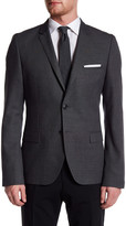 HUGO BOSS Arti Two Button Notch Lapel Trim Fit Sport Coat