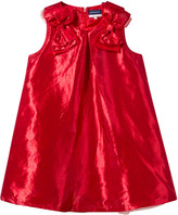 Andy & Evan Red Chantung Dress with Bows