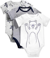 First Impressions 3-Pk. Stars, Stripes and Bears Bodysuits, Baby Boys (0-24 months), Created for Macy's