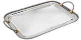 Godinger Cable Handled Rectangular Stainless Steel Serving Tray