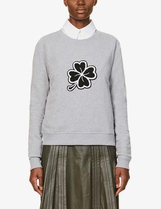 Me And Em Graphic-print cotton-jersey sweatshirt