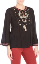 Angie Embroidered Long Sleeve Top