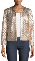 Neiman Marcus Leather Grid Jacket
