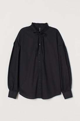 H&M Wide cotton blouse