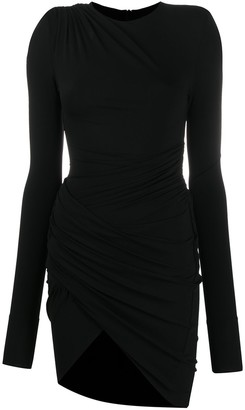Alexandre Vauthier Draped Stretch-Jersey Mini Dress