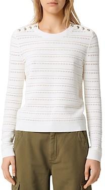 Maje Metier Open-Knit Sweater