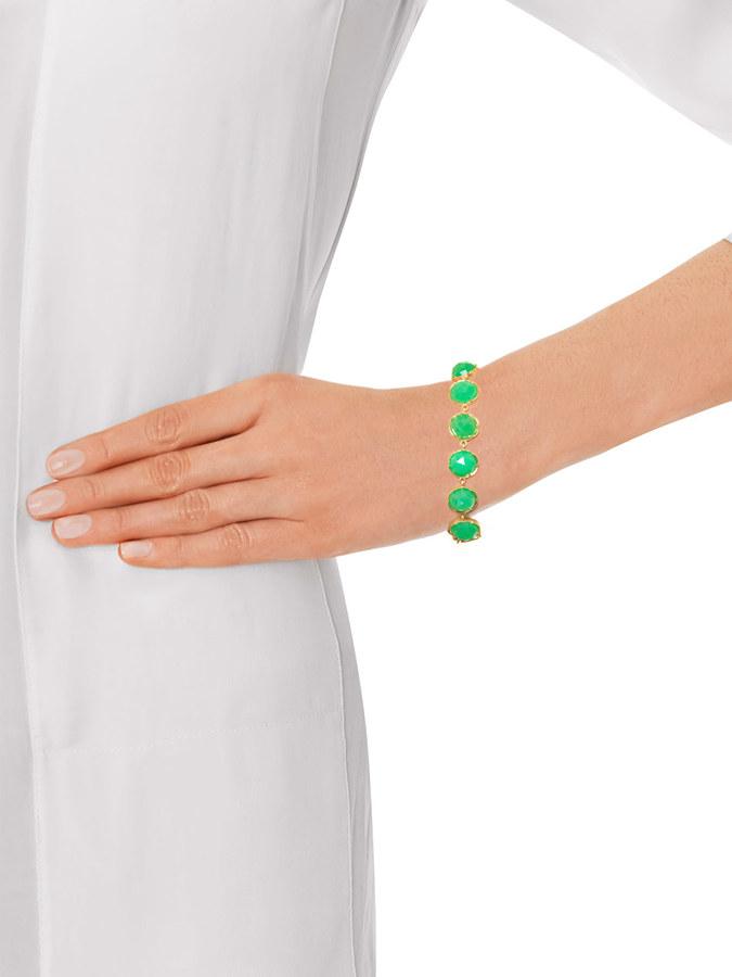 Irene Neuwirth Chrysopase & yellow-gold bracelet