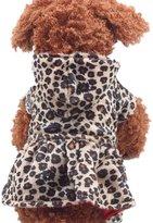 GQMART Pet Puppy Dog Jumpsuit Winter Clothes Dress Shirt Apparel Outwear Coat