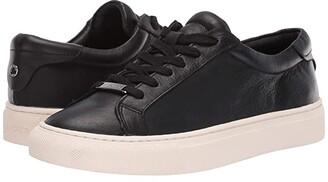 J/Slides Lacee (Black Leather) Women's Shoes