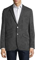 Robert Graham Splotch-Print Birdseye Sport Coat, Charcoal