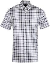 Aquascutum Grey Checked Emsworth Short Sleeve Shirt