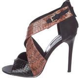 Derek Lam Snakeskin Cage Sandals