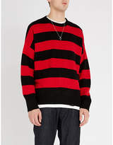 The Kooples Crewneck striped knitted jumper
