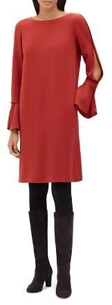 Lafayette 148 New York Jorie Slit Flare-Sleeve Dress