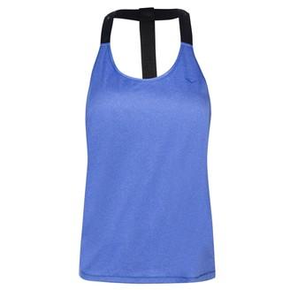 Everlast Womens Jacquard Tank Top Performance Vest Crew Neck Lightweight Mesh Blue Marl 10 (S)