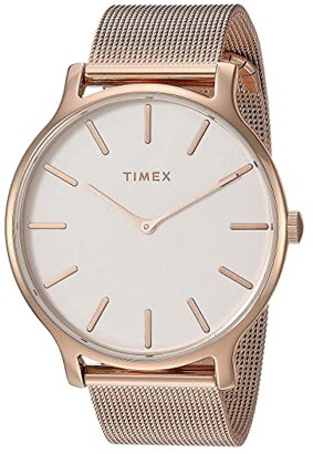 Timex 38 mm Transcend 3-Hand (Rose Gold/Pink/Rose Gold) Watches