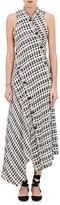 Proenza Schouler Women's Bias-Cut Plaid Tweed Long Dress-IVORY