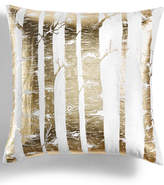 "Holiday Lane Gold Foil Printed Tree 20"" Square Decorative Pillow, Created for Macy's"