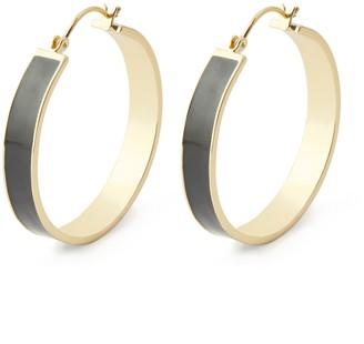 Gorjana Jax Enamel 40mm Hoop Earrings