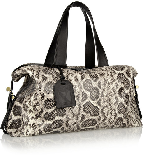 Reed Krakoff Atlas leather-trimmed anaconda tote