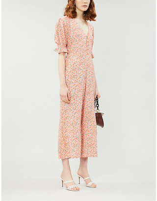 Faithfull The Brand Floral woven jumpsuit