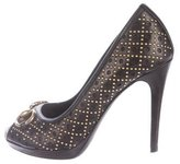 Gucci Studded Horsebit Pumps
