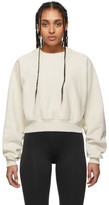 Reebok x Victoria Beckham Off-White Cropped Sweatshirt