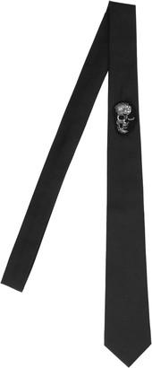 Alexander McQueen Skull Embellished Tie
