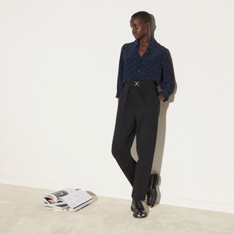 Sandro High-waisted fitted pants